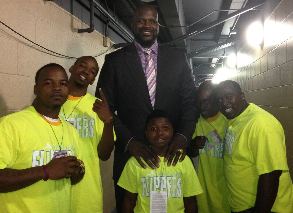 The Beale Street Flippers with Shaquille O'Neal