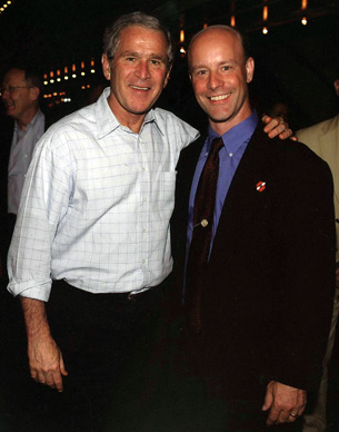 Rollin Riggs With President George W. Bush